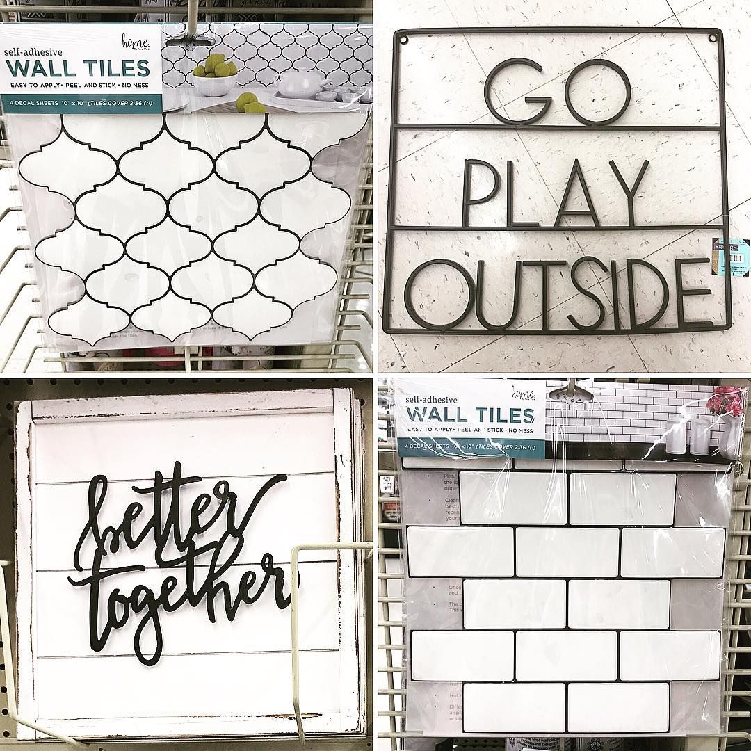 Amber On Instagram Hobby Lobby Part 2 How Awesome Are These Peel And Stick Tiles Also Stick On Tiles Peel And Stick Tile Self Adhesive Wall Tiles