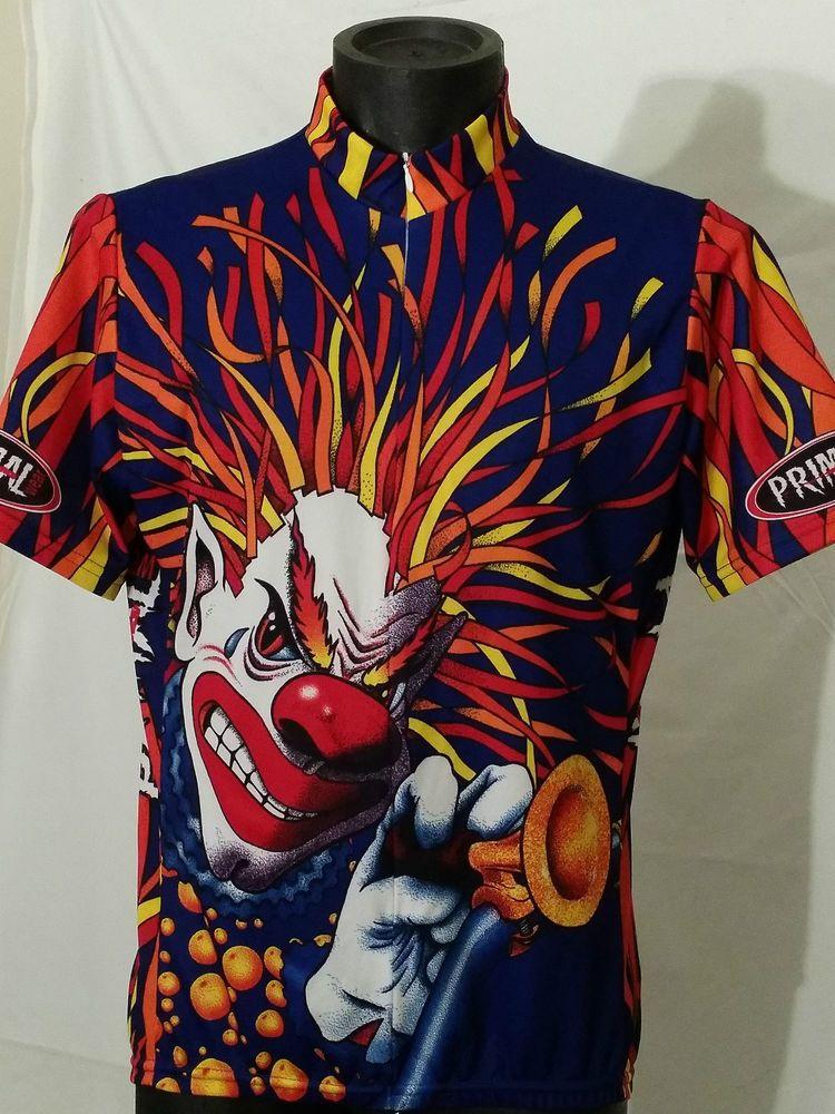 rare PRIMAL WEAR Gears Of A Clown short sleeve cycling biking jersey ... 2432e9a2a