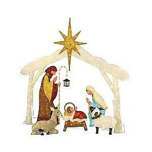 Chenille 260l lighted nativity scene set of 6 outdoor livi chenille 260l lighted nativity scene set of 6 outdoor livi mozeypictures Choice Image