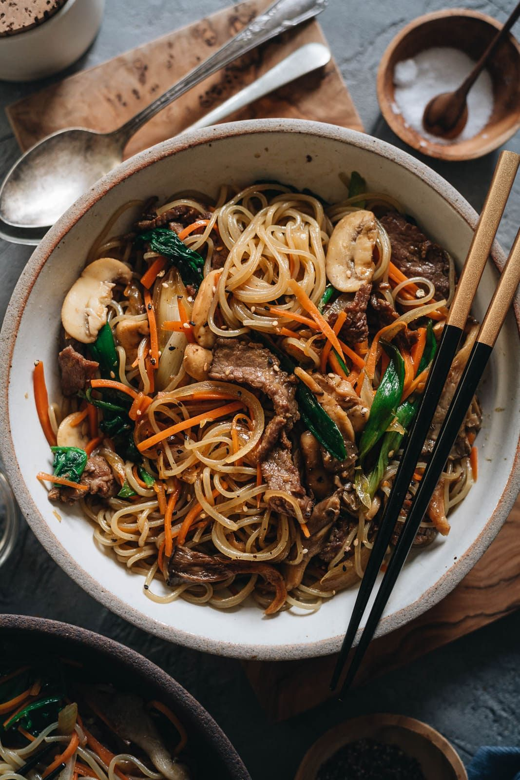 Japchae Korean Sweet Potato Noodles Make Japchae At Home For A Comforting Delicious In 2020 Korean Sweet Potato Sweet Potato Noodles Korean Sweet Potato Noodles