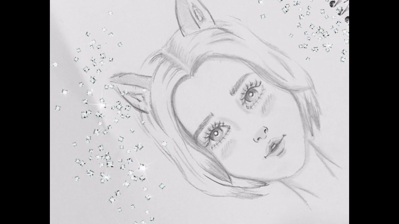 Easy Pencil Sketch How To Draw A Girl Face In Cartoon Style My Drawings Drawings Cartoon Styles