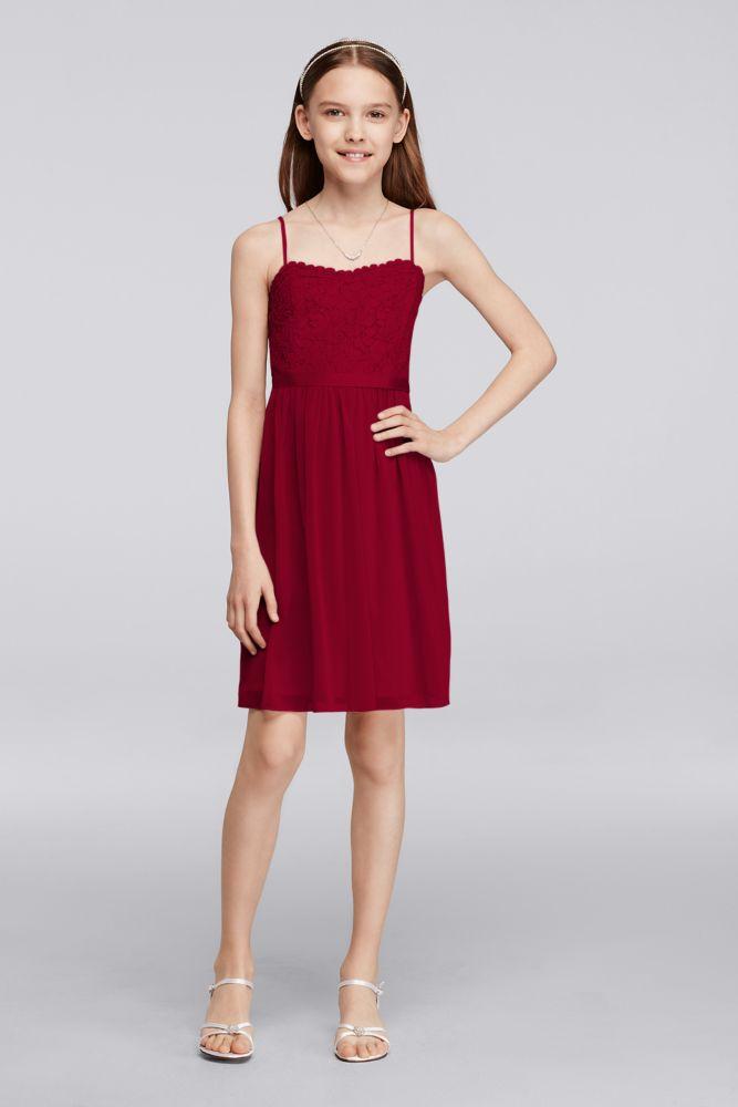 Short Lace Mesh Junior Bridesmaid Dress Style JB9288   Lace, Junior ...