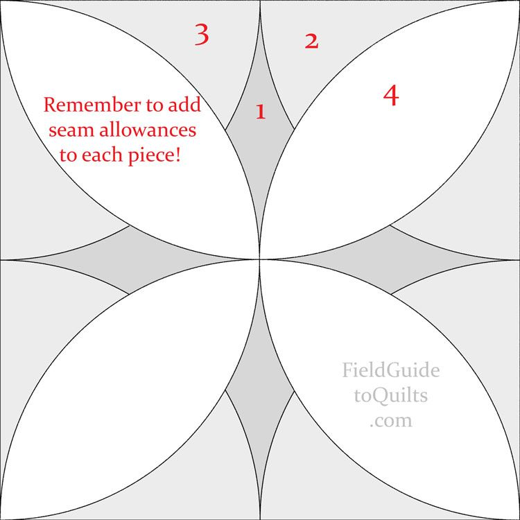 Alabama Beauty quilt block Diagrams for blocks with petal shapes ...