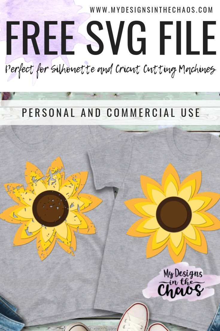 Free Sunflower SVG My design, Silhouette projects