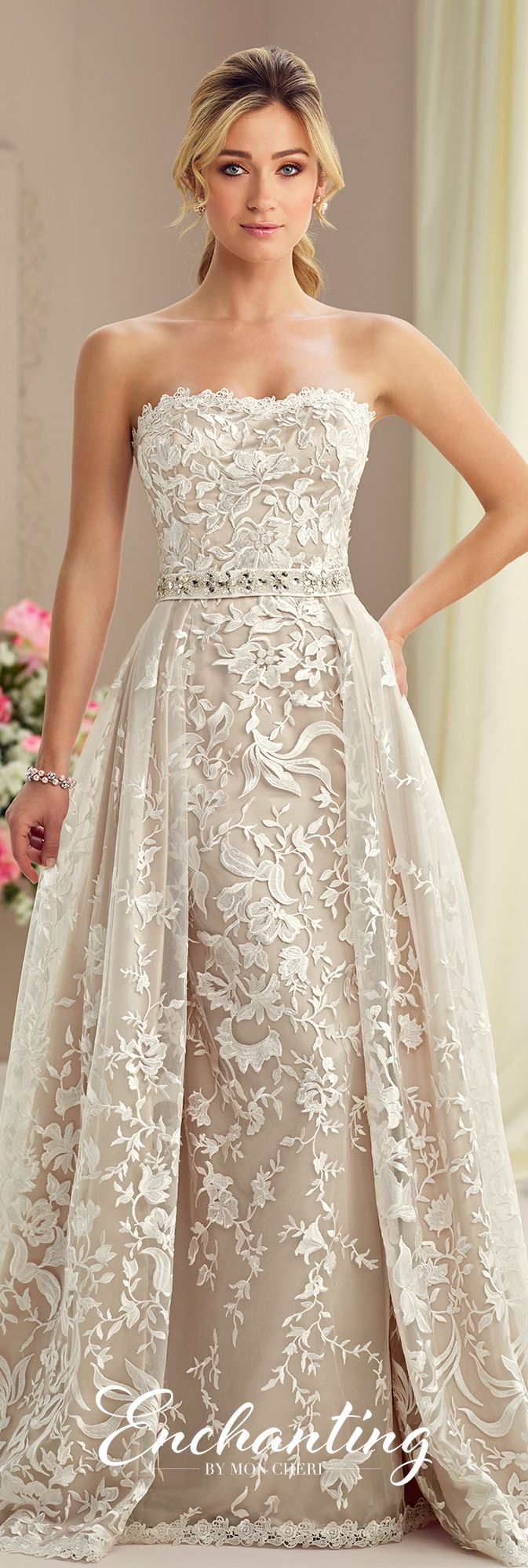 Modern Wedding Dresses 2018 by Mon Cheri | Enchanted, Gowns and ...