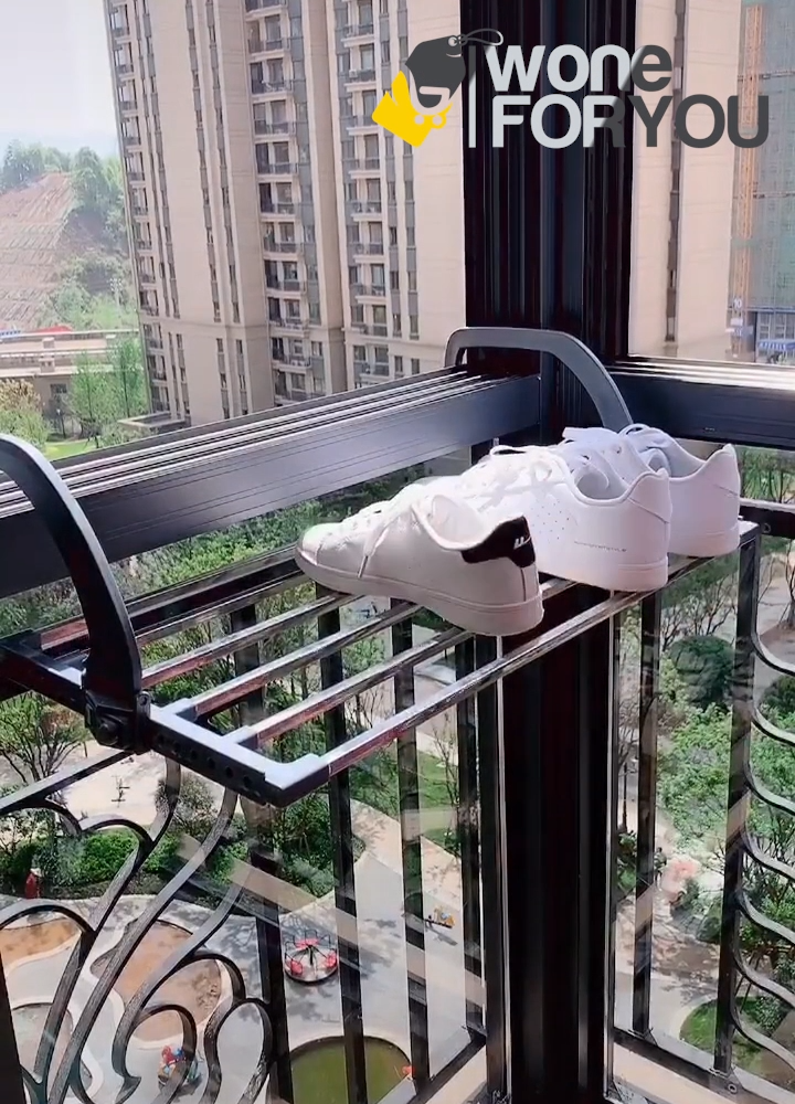 Folding Balcony Drying Rack is part of Small balcony design, Small balcony decor, Balcony design, Apartment balcony decorating, Apartment balcony garden, Balcony decor - 20 81oz