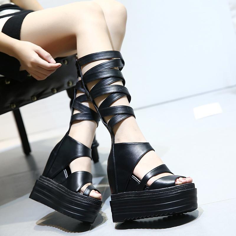 6854f756216 Women s High Heel punk goth Sandals – Univibe  boots  shoes  punk  rock   cool  trendy  black  metal  sandals  goth  platform  woman  fashionista