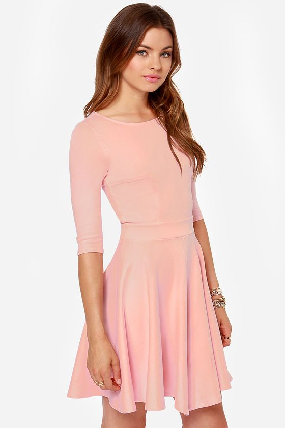 c3fe6f1c7 Exclusive Just a Twirl Light Pink Dress   casual dresses   Pink ...