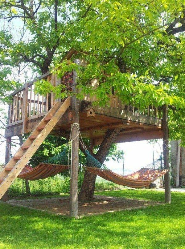 gemütliches-bauhaus-selber-bauen- kinder spielen - Baumhaus bauen - jeux de construction de maison en d
