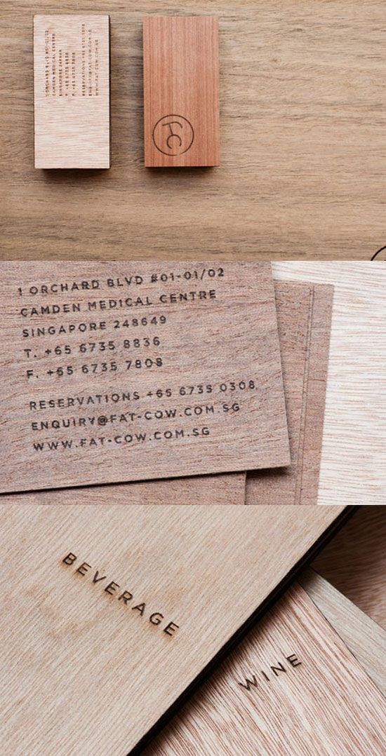 Wonderful Business Cards Inspiration - 34 New Examples