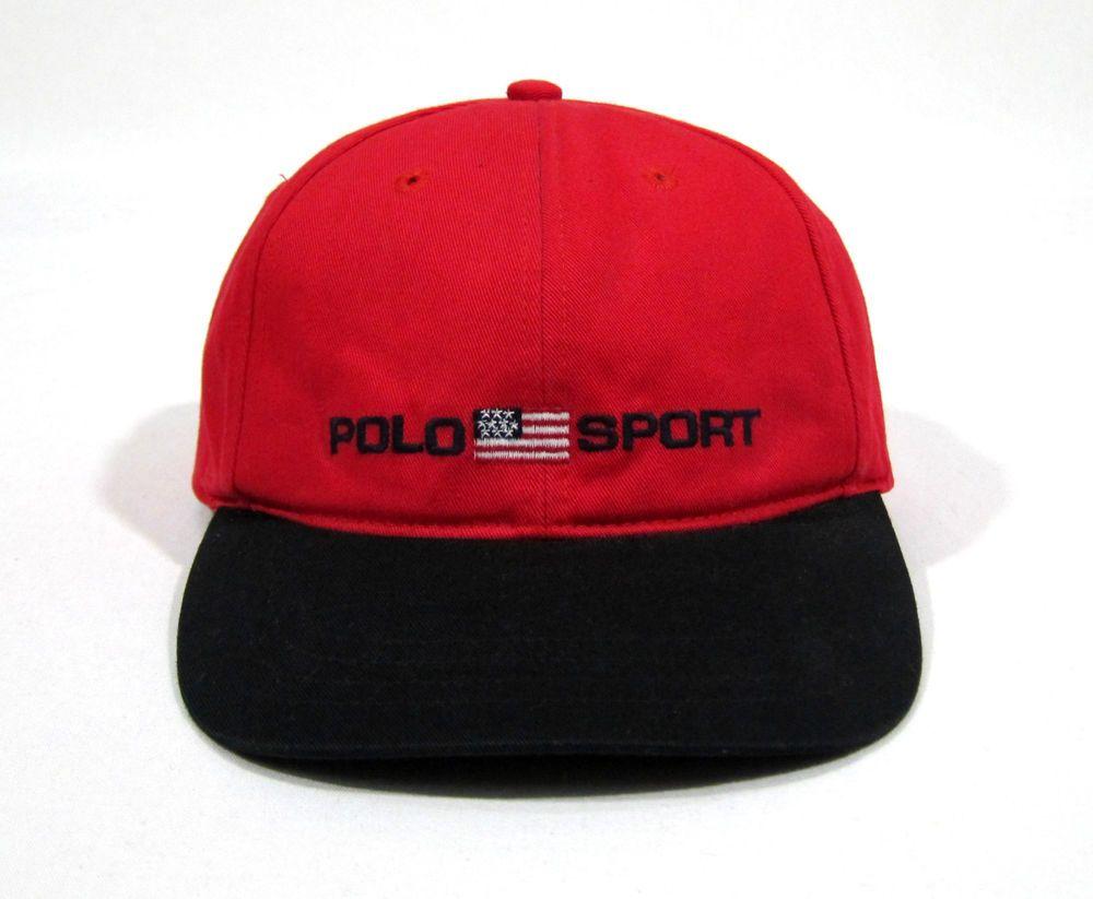 19e5d7ec VTG POLO SPORT RALPH LAUREN STRAPBACK TWO TONE 6 PANEL HAT CAP FLAG USA BEAR  92 | Clothing, Shoes & Accessories, Men's Accessories, Hats | eBay!
