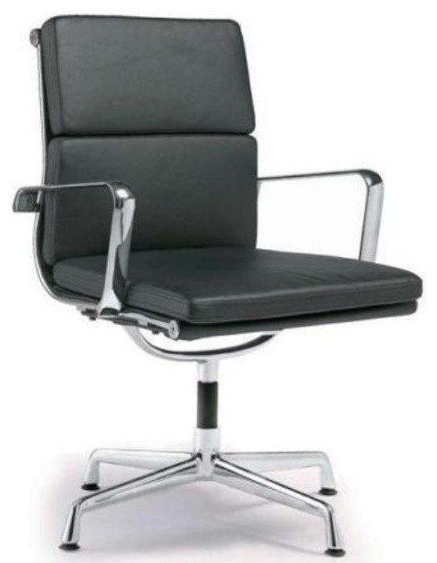 Director Soft Pad Office Chair With No, Modern Home Office Chair No Wheels