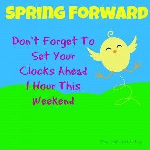 Time02 Daylight Savings Time Daylight Savings Time Begins Spring Forward