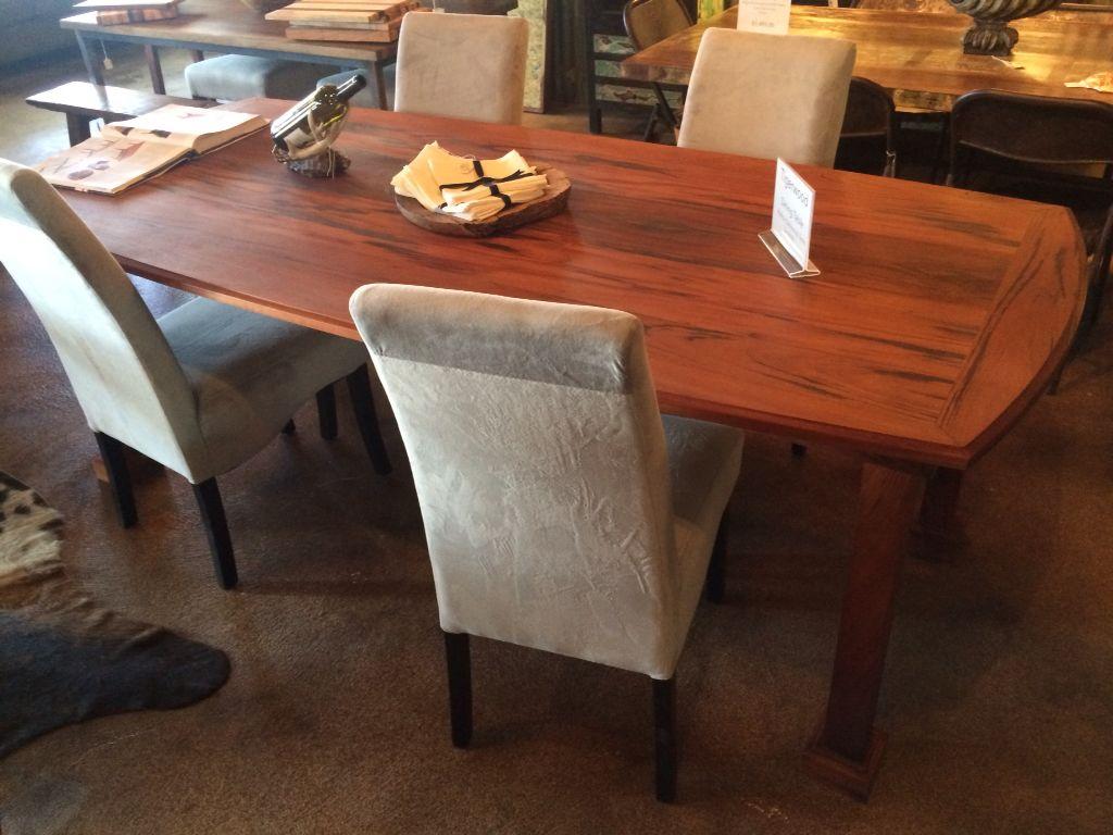 Elegant Tigerwood Dining Table Locally Made In Ewood Tx Highest Quality Go Against The Grain Austincustomrustics