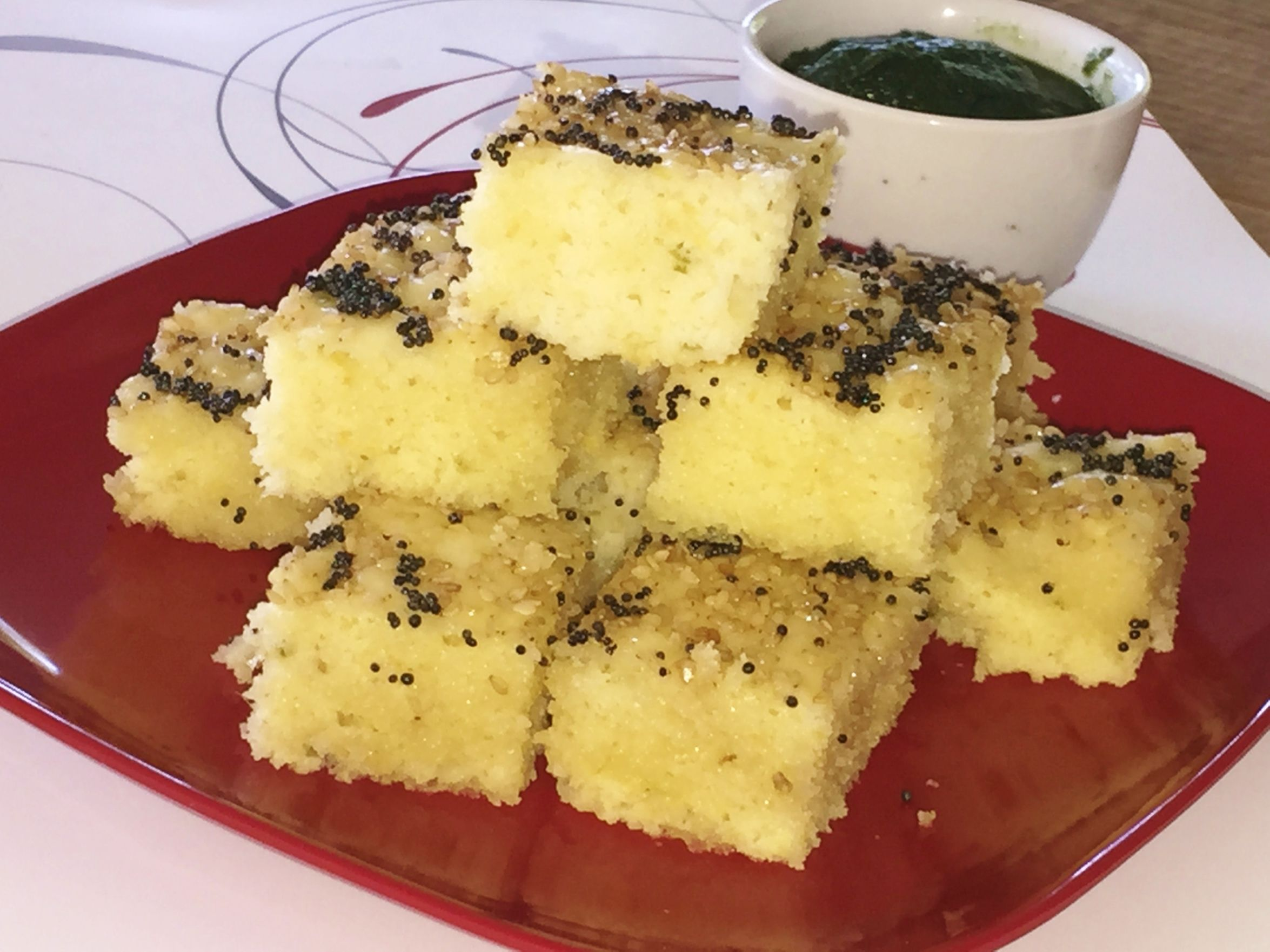 Instant rava dhokla indian vegetarian cuisine pinterest lunch instant khatta dhokla video recipe by bhavna forumfinder Images