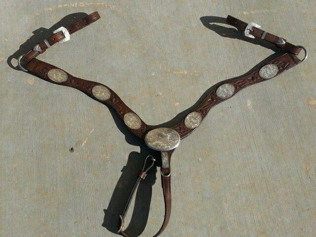 Vintage Carlos Silver (Carlos Duarte Sr.) Sterling Silver Show Breast Collar #CarlosSilver