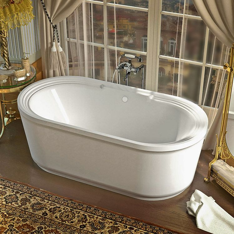 Royale 34x67x24″ Oval 2-Piece Freestanding Dual Whirlpool/Air ...