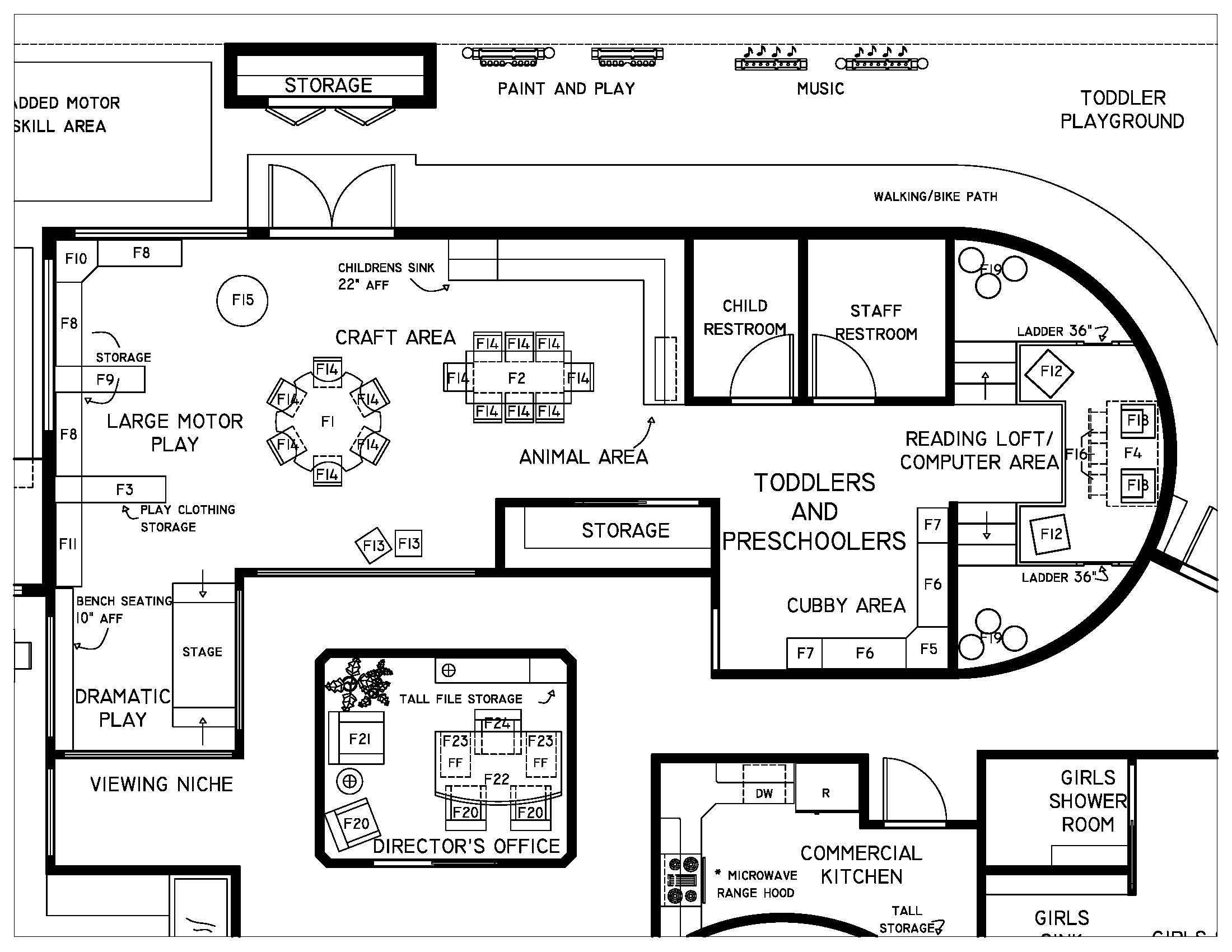 2D Top View Design. Kitchen Planning photo - 3