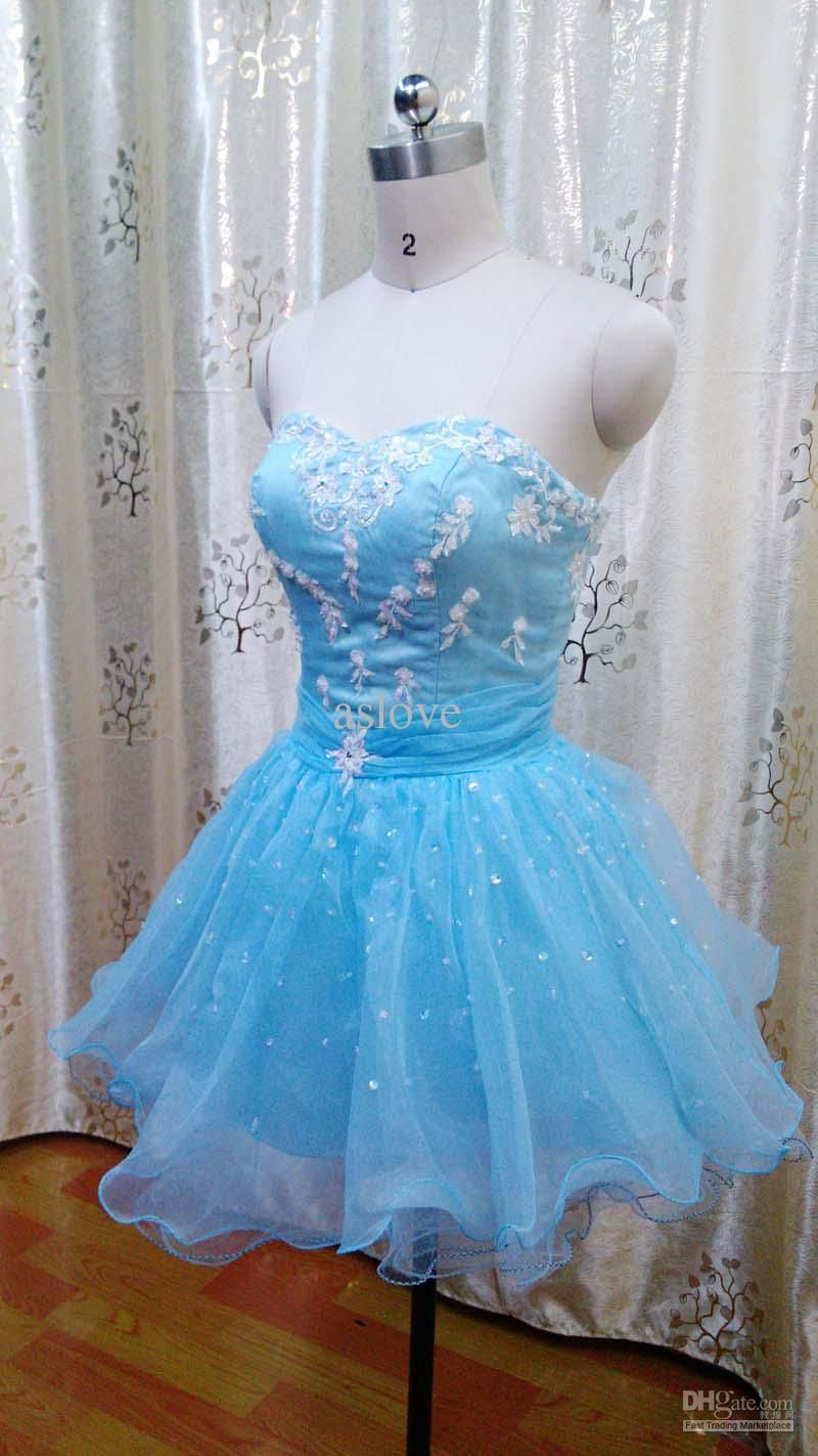 Sky Blue Sparkly Lace Minnie Dress | apparel; expressing yourself ...