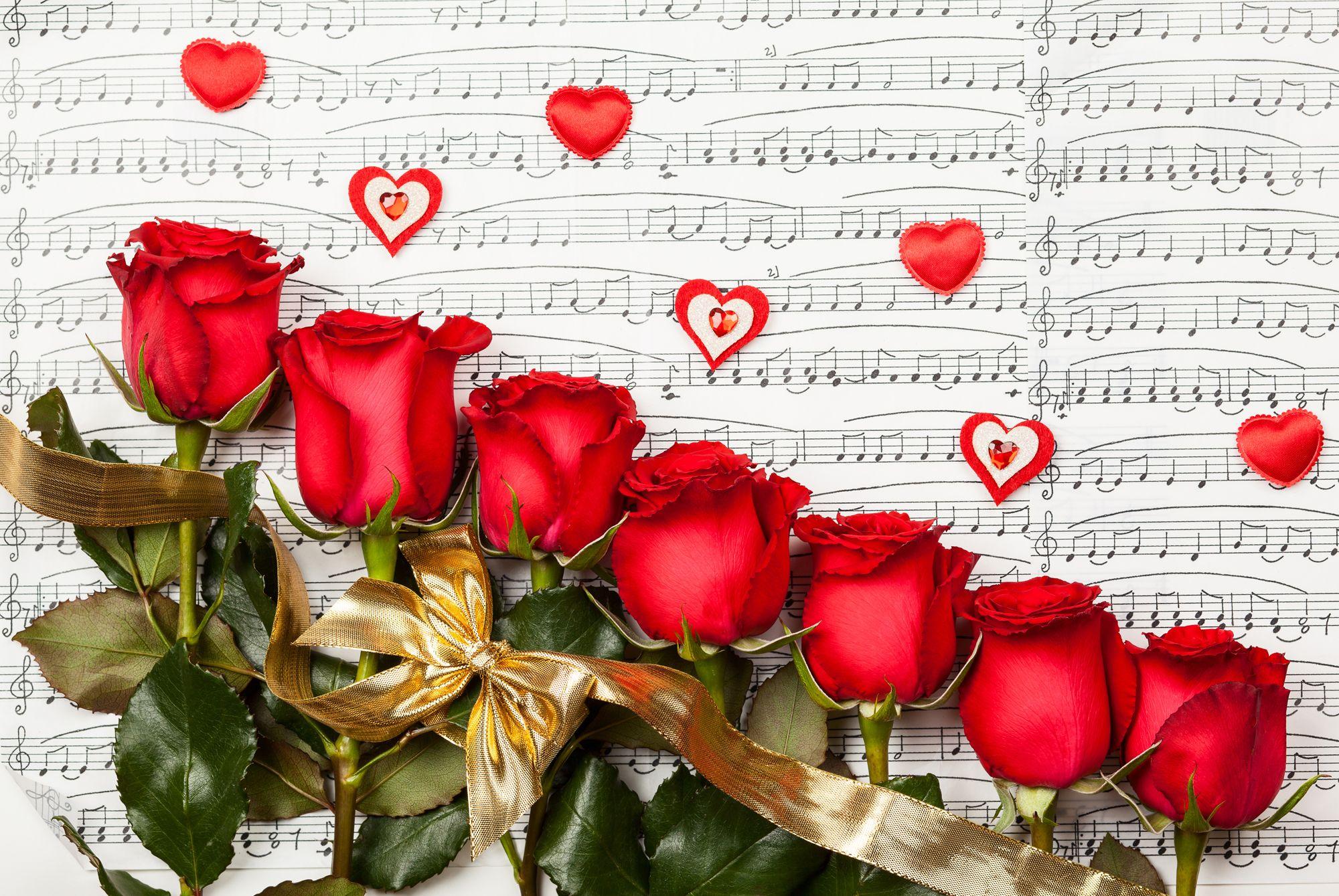 Днем, открытки музыкальные с днем рождения цветы