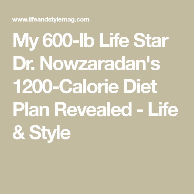 what is the 600 lb diet?