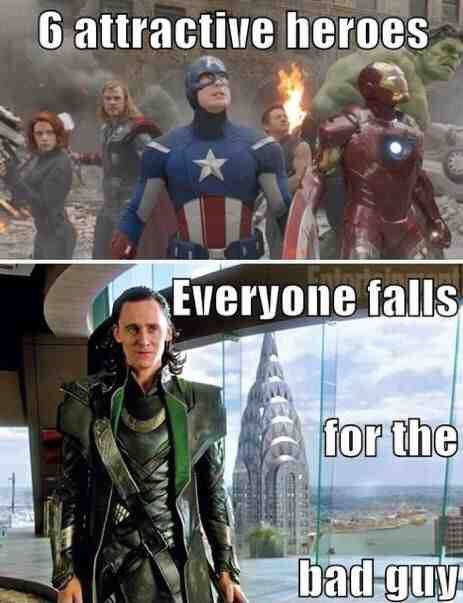 Iron man is my favorite hero out of marvel and DC comics and anything else,but I do love Loki as well.