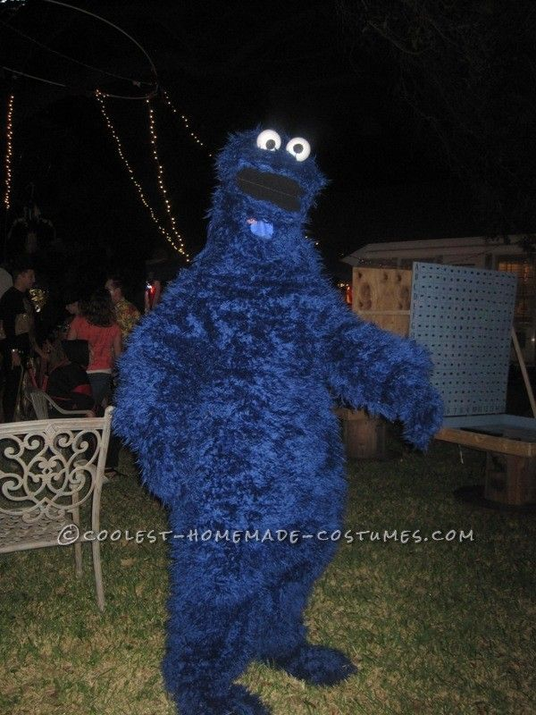 Coolest Adult Cookie Monster Costume & Coolest Adult Cookie Monster Costume | Pinterest | Monster costumes ...