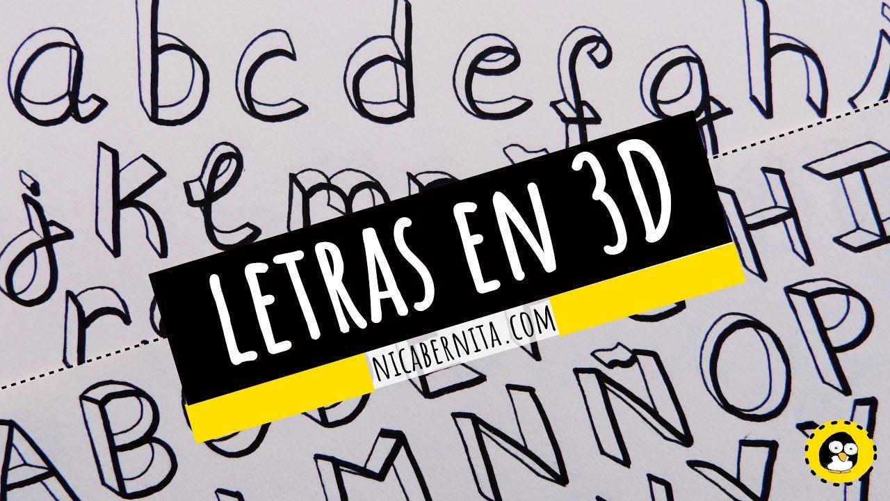 CÓMO DIBUJAR LETRAS EN 3D ORIGINALES LETRAS PARA TÍTULOS y APUNTES ...