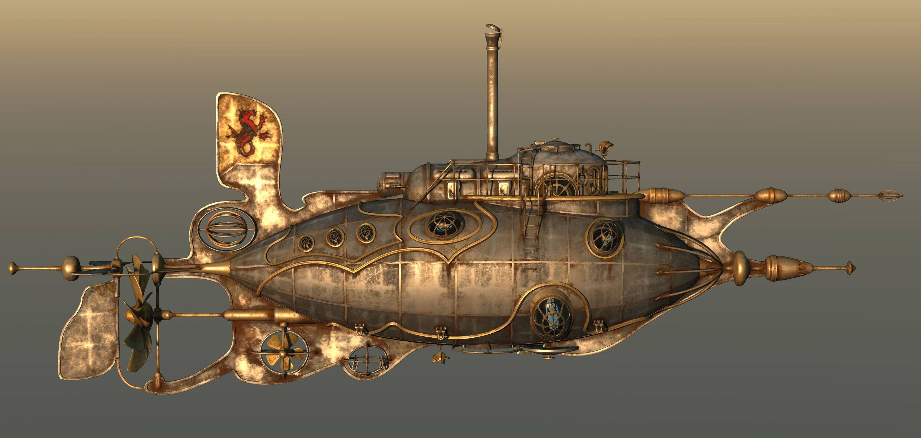 Steampunk is a sub-genre of fantasy and science fiction based on the Victorian era in England when steam engines were used. This model can be used as an ...
