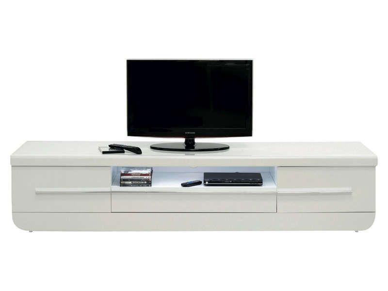 meuble tv floyd coloris blanc meuble