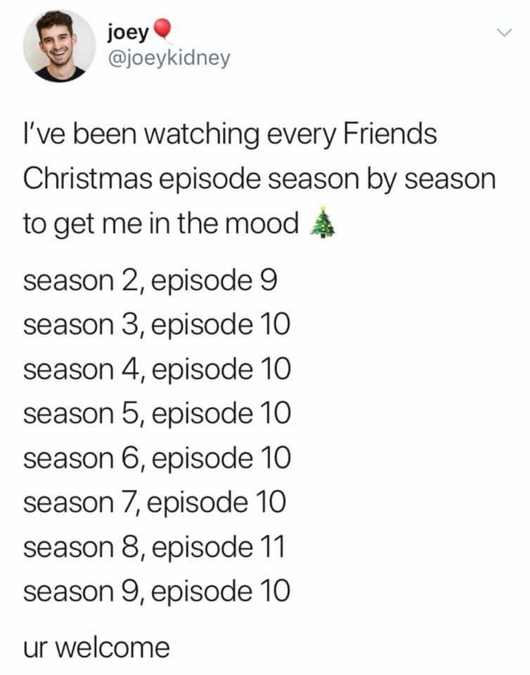 Pin By Kate Krohmer On Bliss Friends Christmas Episode Christmas Episodes Friends Tv