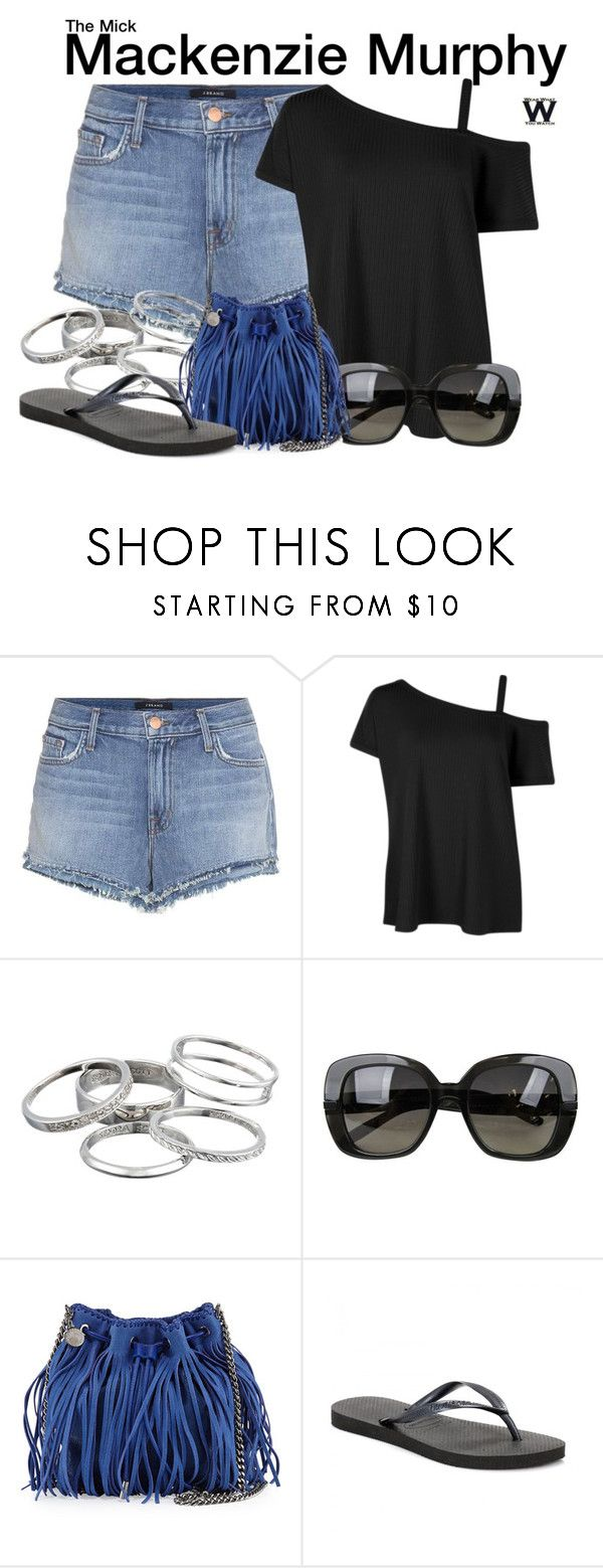 """The Mick"" by wearwhatyouwatch ❤ liked on Polyvore featuring J Brand, Kendra Scott, Bottega Veneta, STELLA McCARTNEY, Havaianas, television and wearwhatyouwatch"