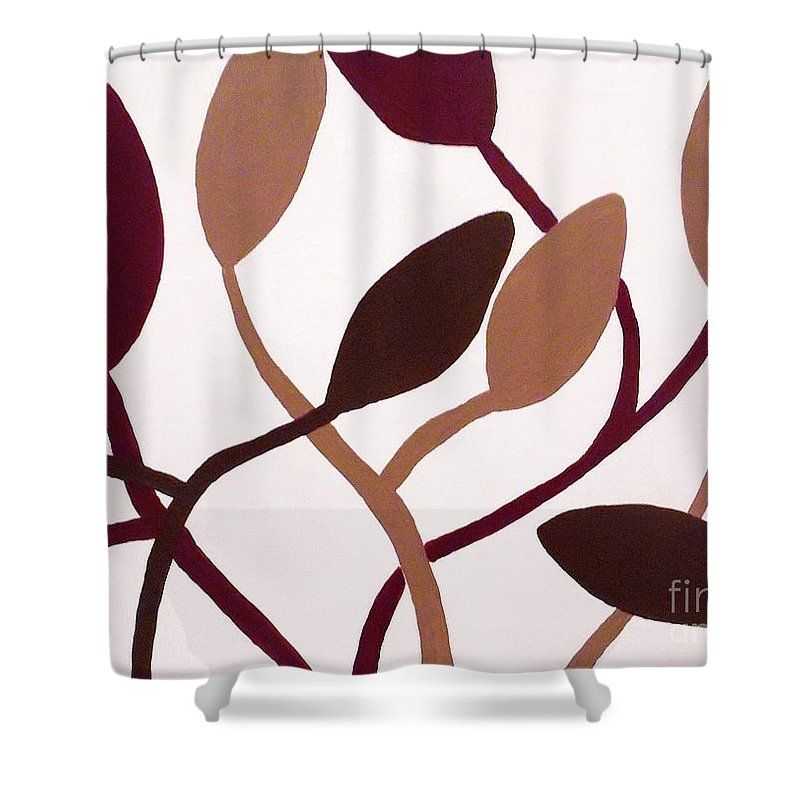 Contemporary Floral Shower Curtain Featuring The Painting
