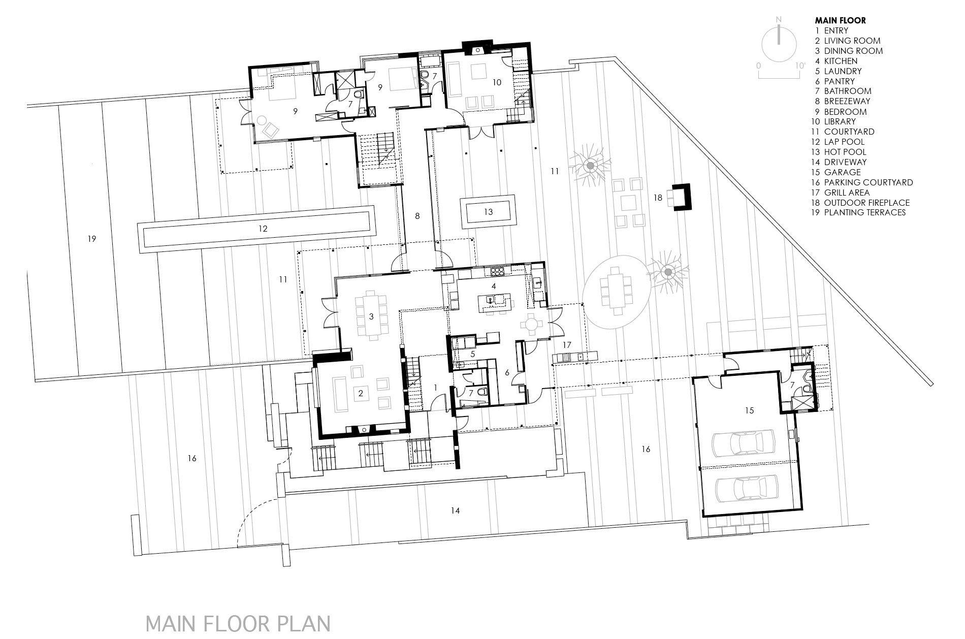 Berkeley Courtyard House By Wa Design Inc Floor Plans Courtyard House Courtyard House Plans
