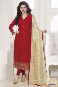 Attractive Red Color Prachi Desai Salwar Suit Online #salwarsuit ...