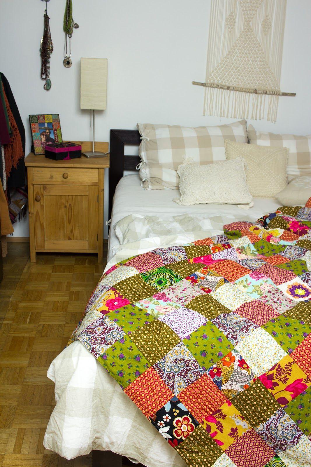 diy patchworkdecke aus stoffresten n hen patchwork stoffreste patchworkdecke und. Black Bedroom Furniture Sets. Home Design Ideas