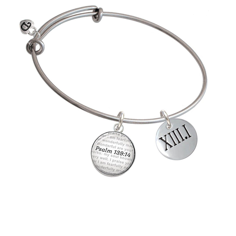 Marathon Roman Numeral Custom Year Stainless Steel Heart Bead Charm