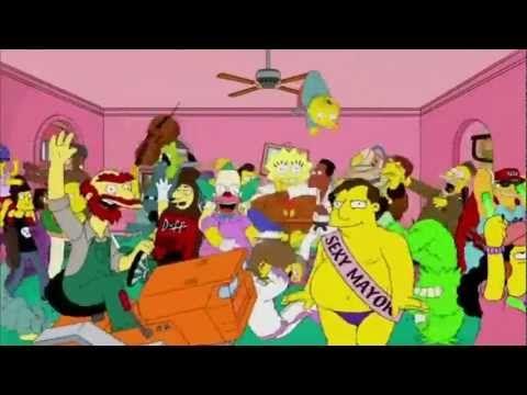 "Version del ""Harlem shake"" con Los Simpsons hecho por AnimationFOX .    Aqui el original: http://www.youtube.com/watch?v=YNrn-7zjmYw"