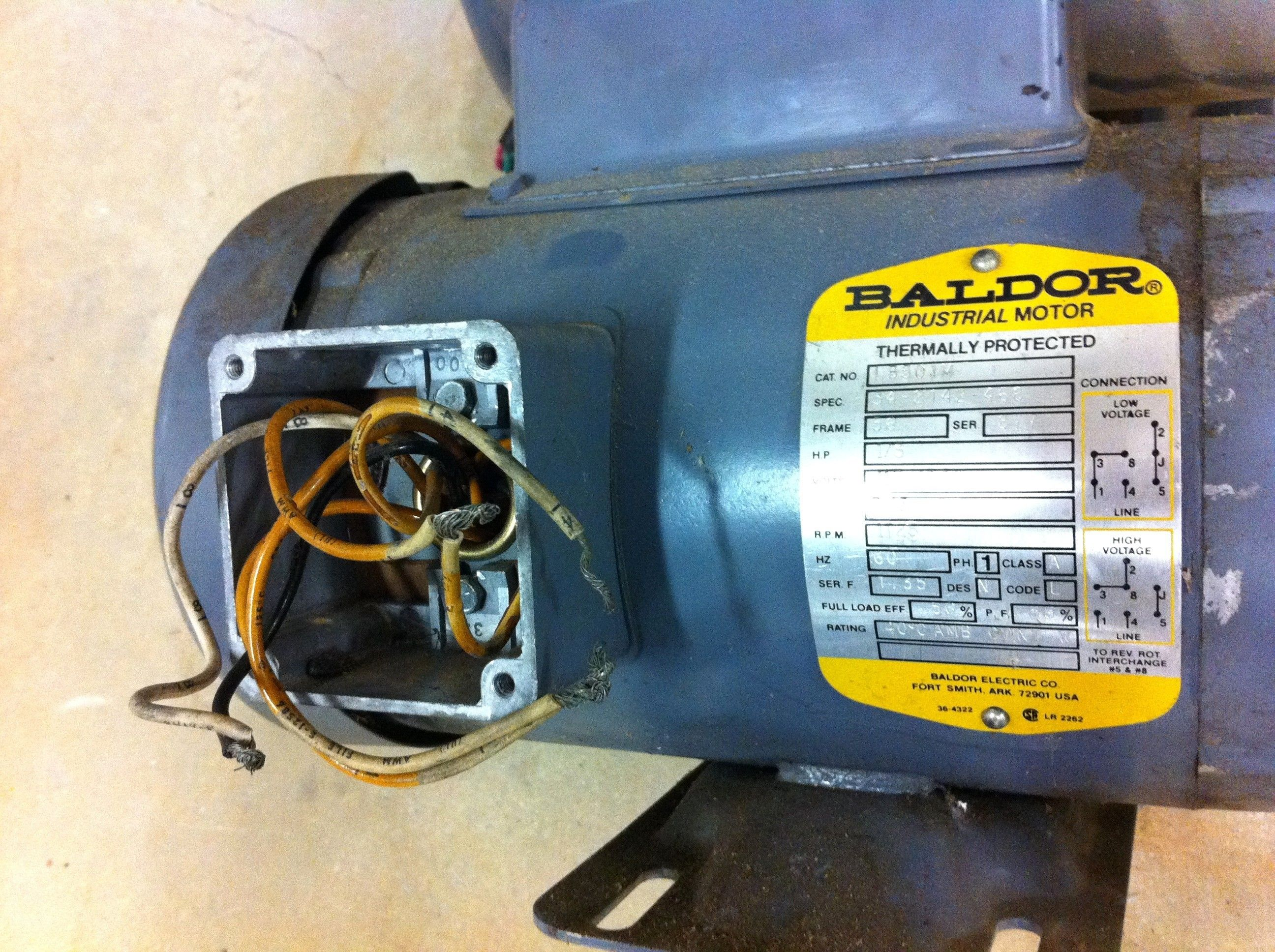 Unique Wiring Diagram Baldor Electric Motor  Diagram