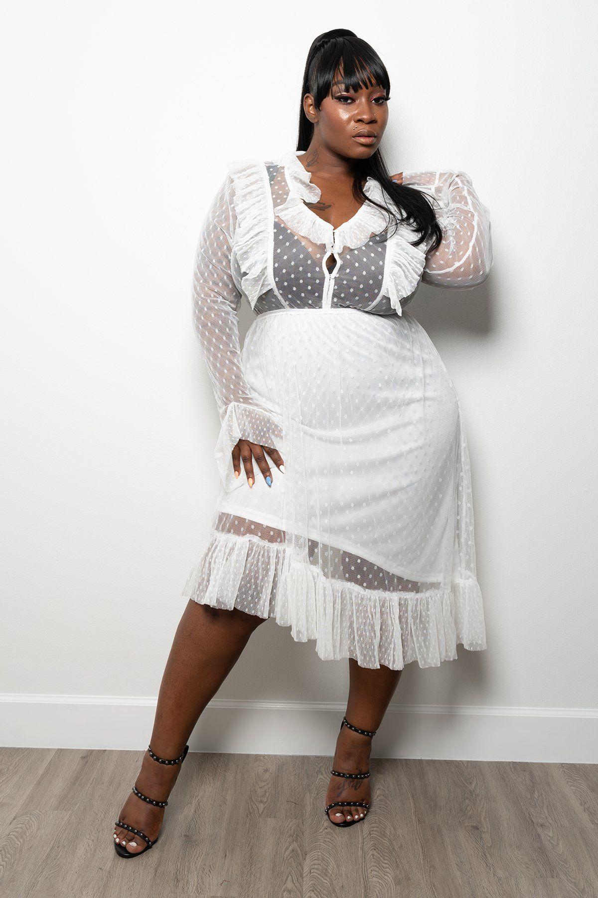 Plus Size Vintage Glam Mesh Lace Hi Lo Dress White 1x In 2021 Plus Size Maxi Dresses Dresses Plus Dresses [ 1800 x 1200 Pixel ]