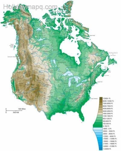 cool Canada map of canada and us Holidaymapq Pinterest