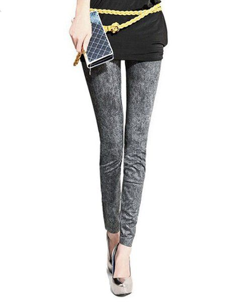 Stretch patterned jeggings