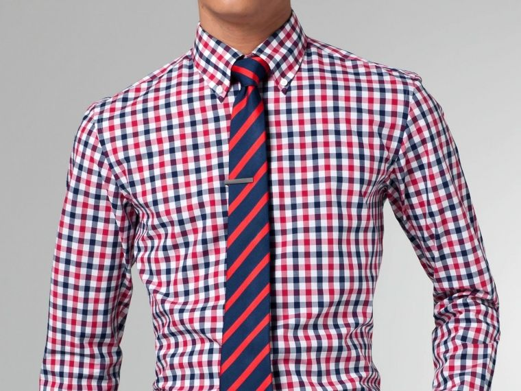 The ultimate navy red gingham shirt red gingham shirt for Navy blue checkered dress shirt
