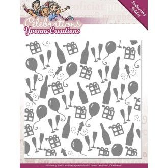 Yvonne Creations Embossing Folder Celebrations - YCEMB10006