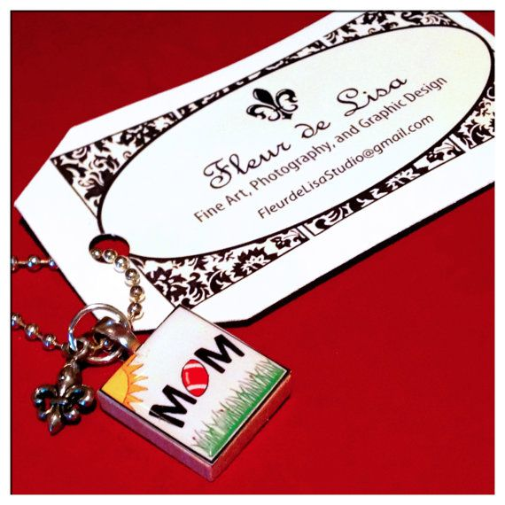 Are you ready for some football, Mom? Necklace - by FleurdeLisaStudio   on Etsy, $5.99