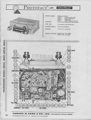 1966 VOLKSWAGEN 6FBVG RADIO SERVICE MANUAL PHOTOFACT 6FBVT
