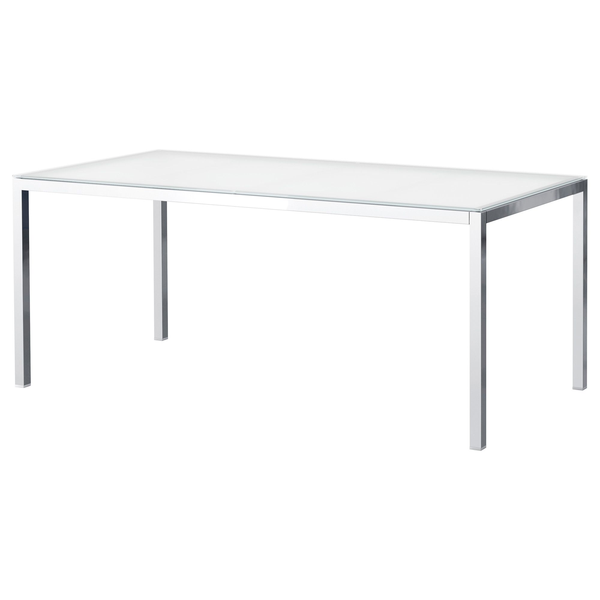 TORSBY Table chrome plated glass white IKEA