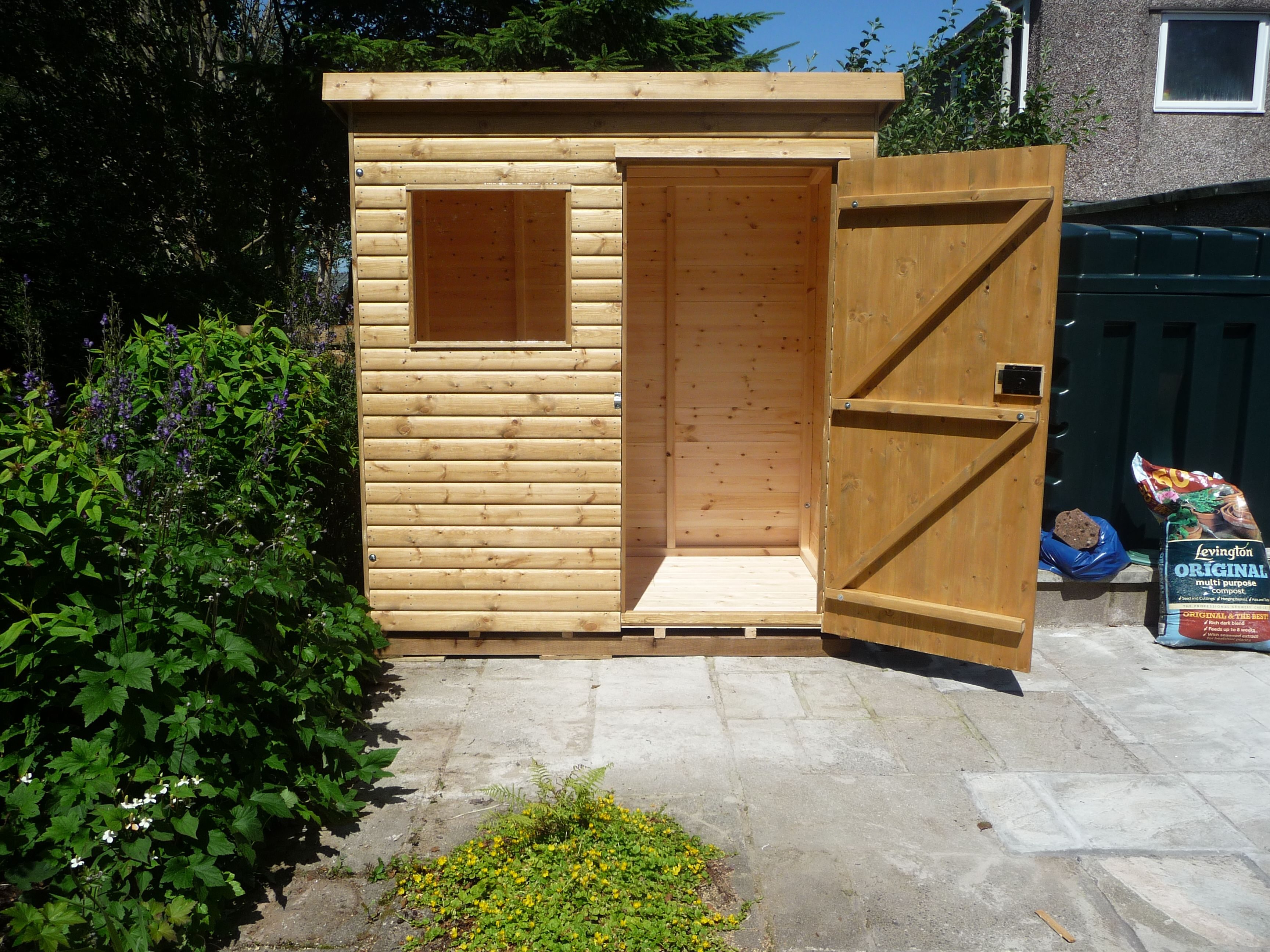 6ft x 4ft garden shed with pent roof great storage area for tools bbq - Garden Sheds 6ft By 4ft