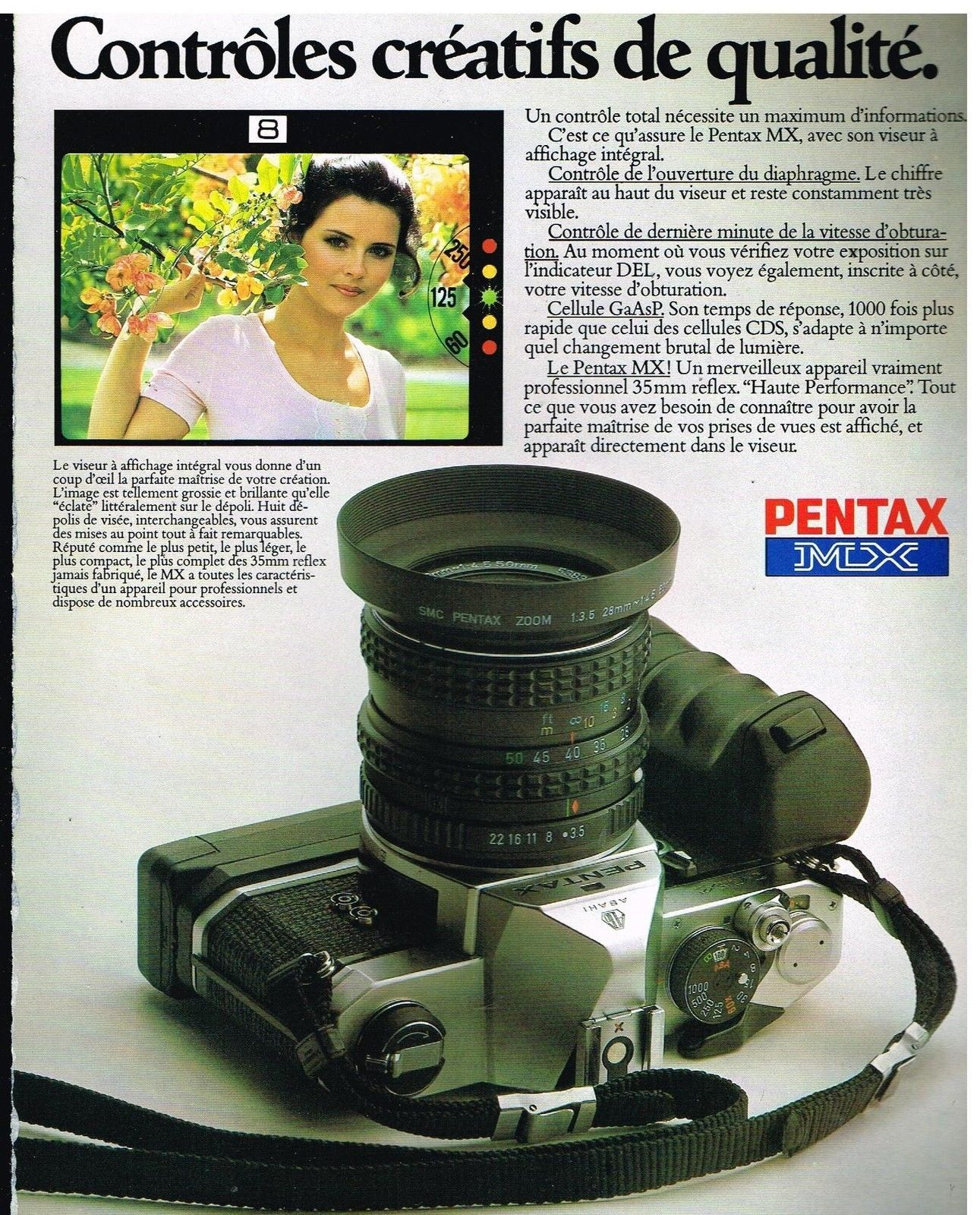 Publicité Advertising 1980 Appareil photo Pentax MX   eBay