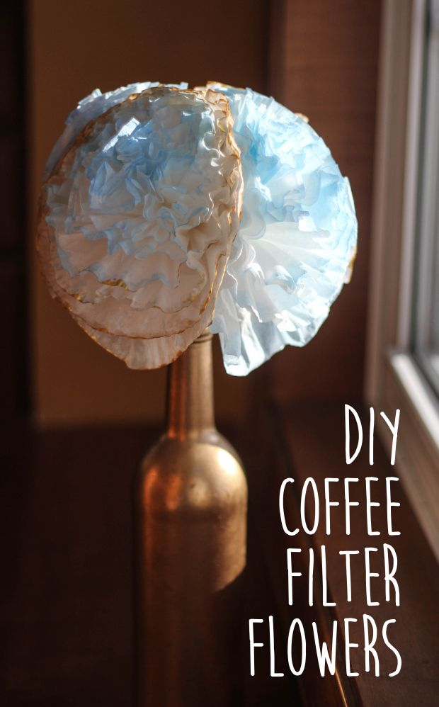diy coffee filter flowers |arthealthandhappiness